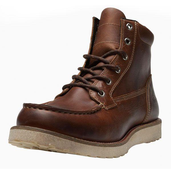 5210fc4d8d9 Men's Jack & Jones JJ Logger Vintage Leather Boot - Cognac | Men's ...