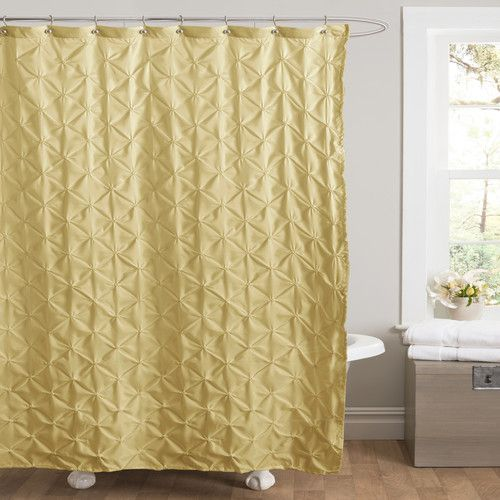 simple gold shower curtain