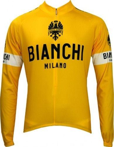 Bianchi Milano Tour De France Yellow Cycling Jersey  1616a517d