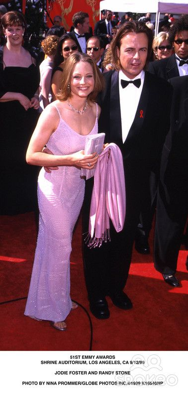 Emmy Awards Shrine Auditorium, Los Angeles, CA 9/12/99 Jodie Foster and Randy Stone Photo by Nina Prommer/Globe Photos, Inc.