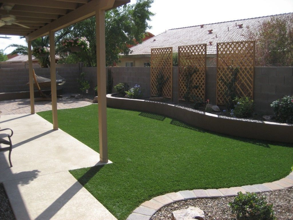 Landscape Ideas For Small Rectangular Backyard | Easy backyard ...