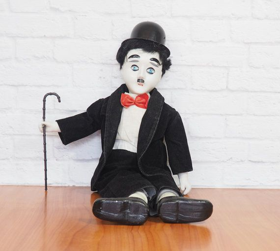9bde858b874 Charlie Chaplin Music Box Doll The Tramp by FireflyVintageHome