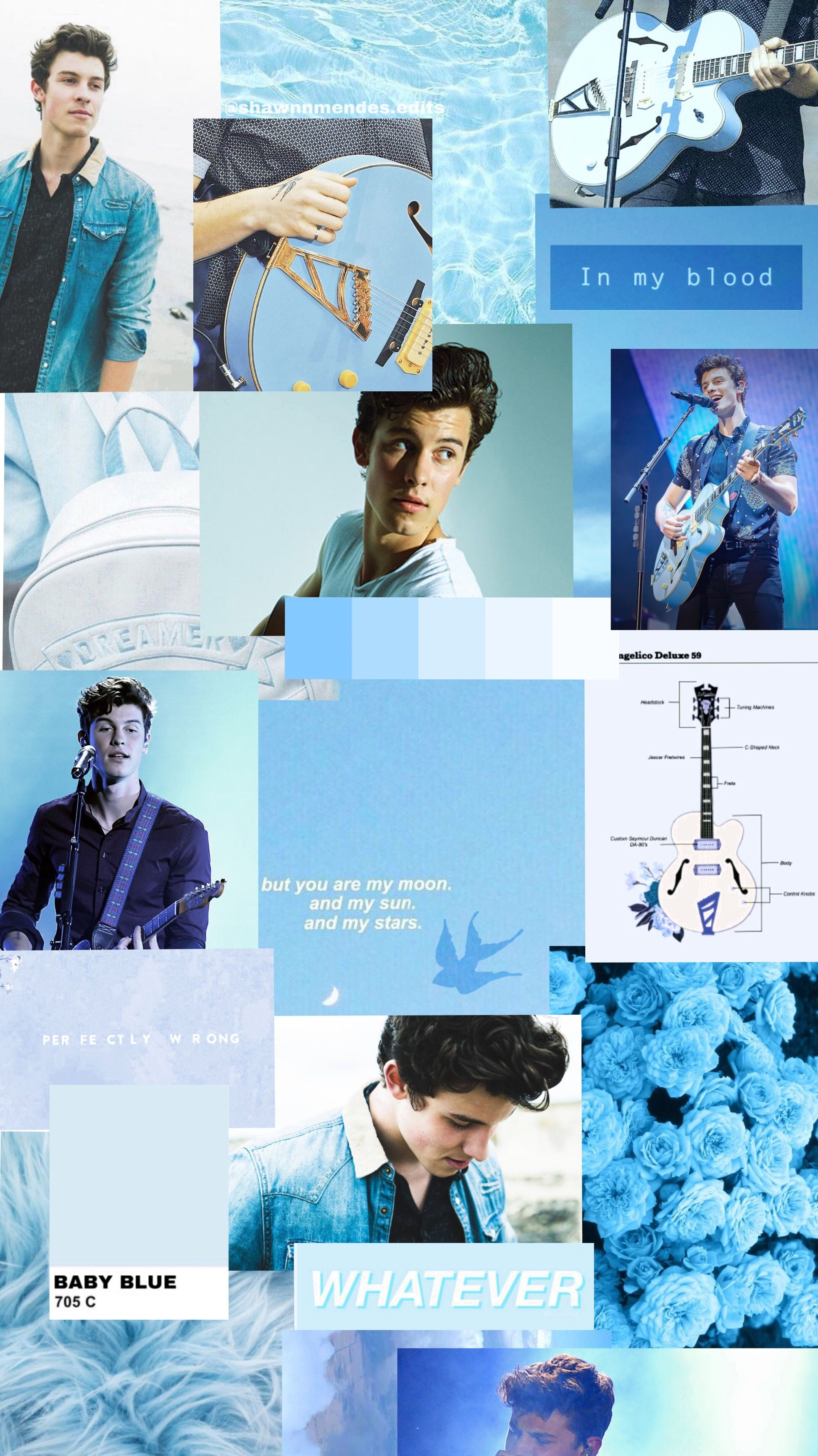 Shawn Mendes aesthetic blue 💙 IG ...