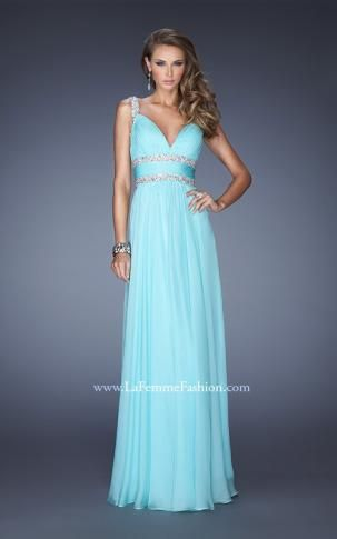 blue long dress with straps http://www.lafemmefashion.com/prom ...