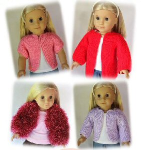 American Girl Dolls and 18 Inch Dolls Free Knitting Patterns #18inchdollsandclothes