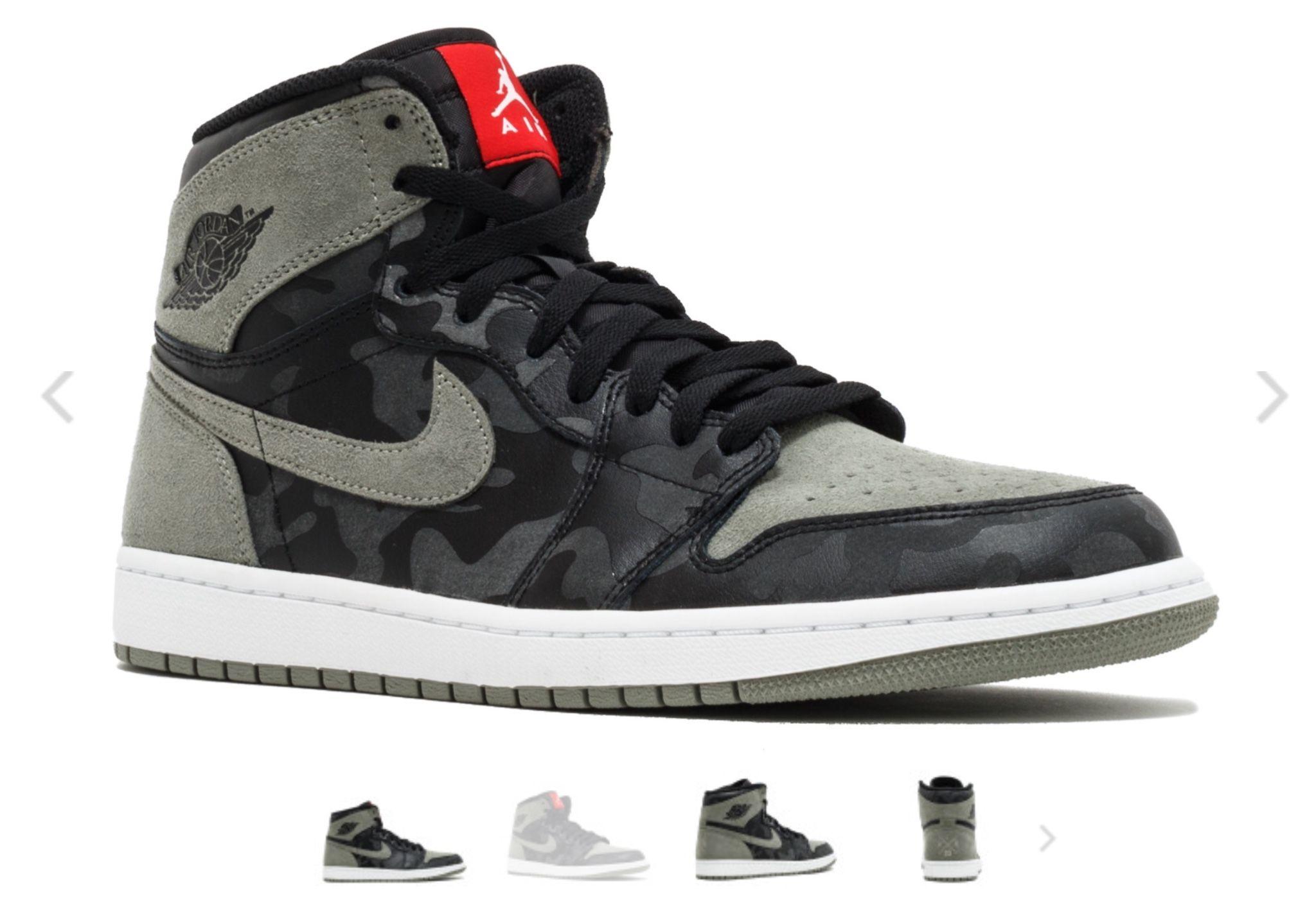 """Air Jordan 1 Retro High Premium """"Camo Pack"""" (Dengan gambar)"""