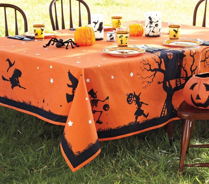 Halloween tablecloth from Pottery Barn Kids Fiestas
