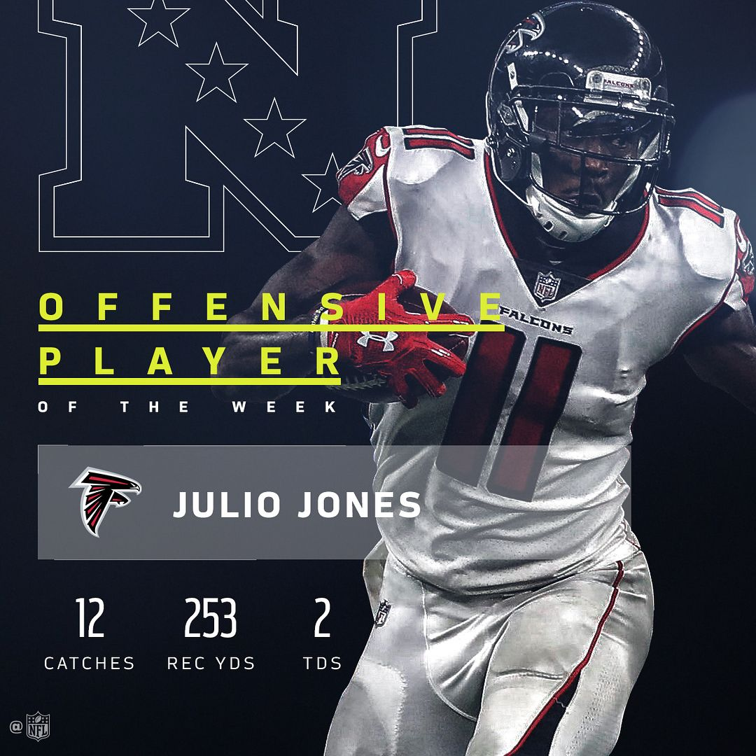 165 4k Likes 1 764 Comments Nfl Nfl On Instagram Juliojones 11 Threw On The Afterburners And Left Nflhistory Falcons Football Falcons Fan Julio Jones