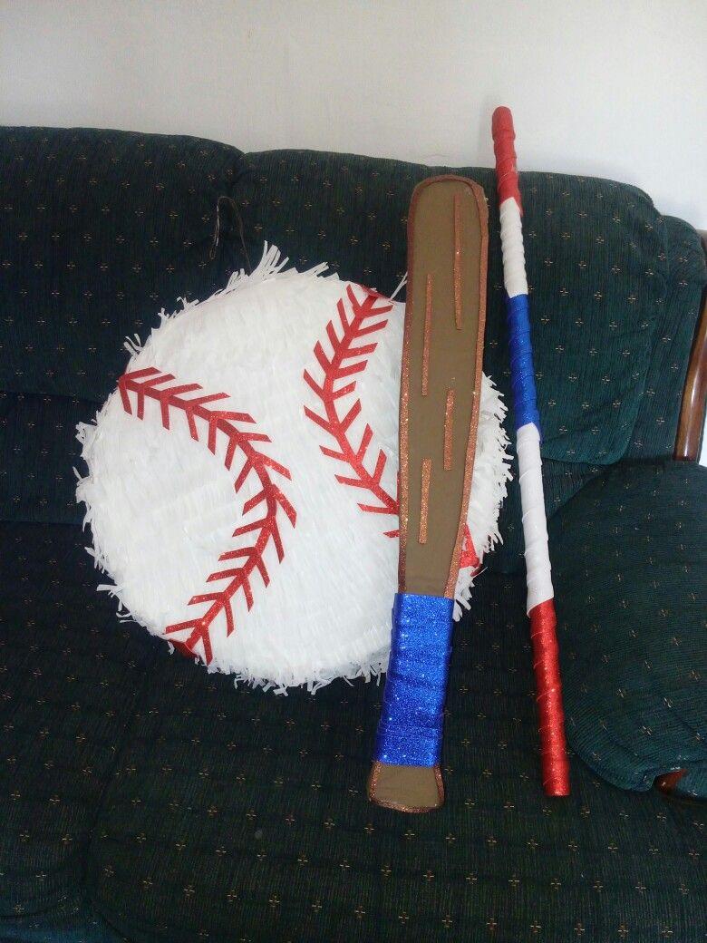 Fiesta Beisbol. Piñata de tambor. Tema: Beisbol time.
