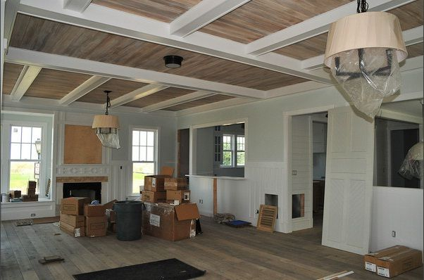 Ceiling Floors White Beams Stained Tongue And Groove White