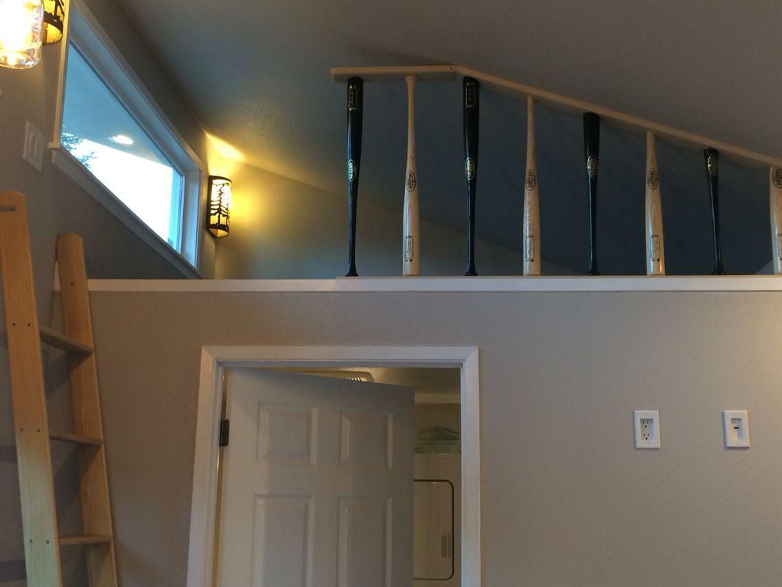 Baseball Bat Railing My Projects Ceiling Lights Track