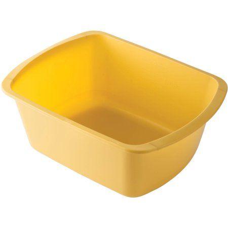 2 Pack Dmi Plastic Wash Basin 7 Quart Capacity Foot Wash Basin