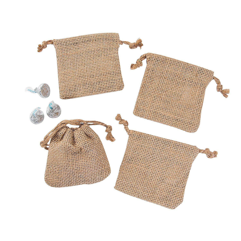 Mini Burlap Drawstring Bags | Burlap, Wedding favor bags and Favors