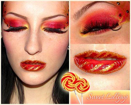 sweet lollipop  lollipop halloween face makeup hair makeup