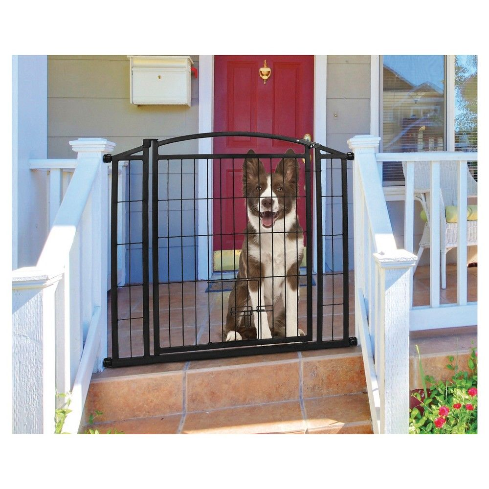 Carlson Secure Walk Through Gate With Small Pet Door Black Extra
