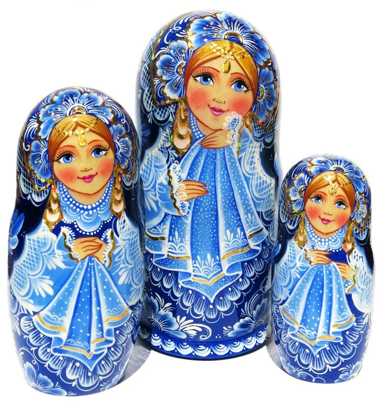 Snowflakes 7-Piece Exclusive Costume Nesting Doll