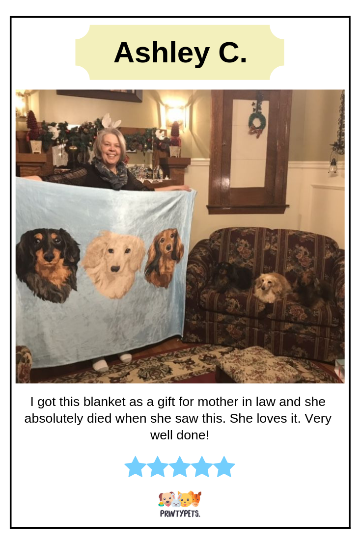 Ashley C Review For Printypets Custom Made Blanket Fleeceblanket Doglovers Printypets Happy Customers Mother Gifts Pets