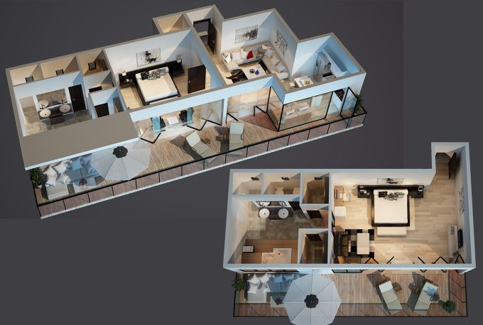create the best interior, exterior, 2d and 3d floor plan