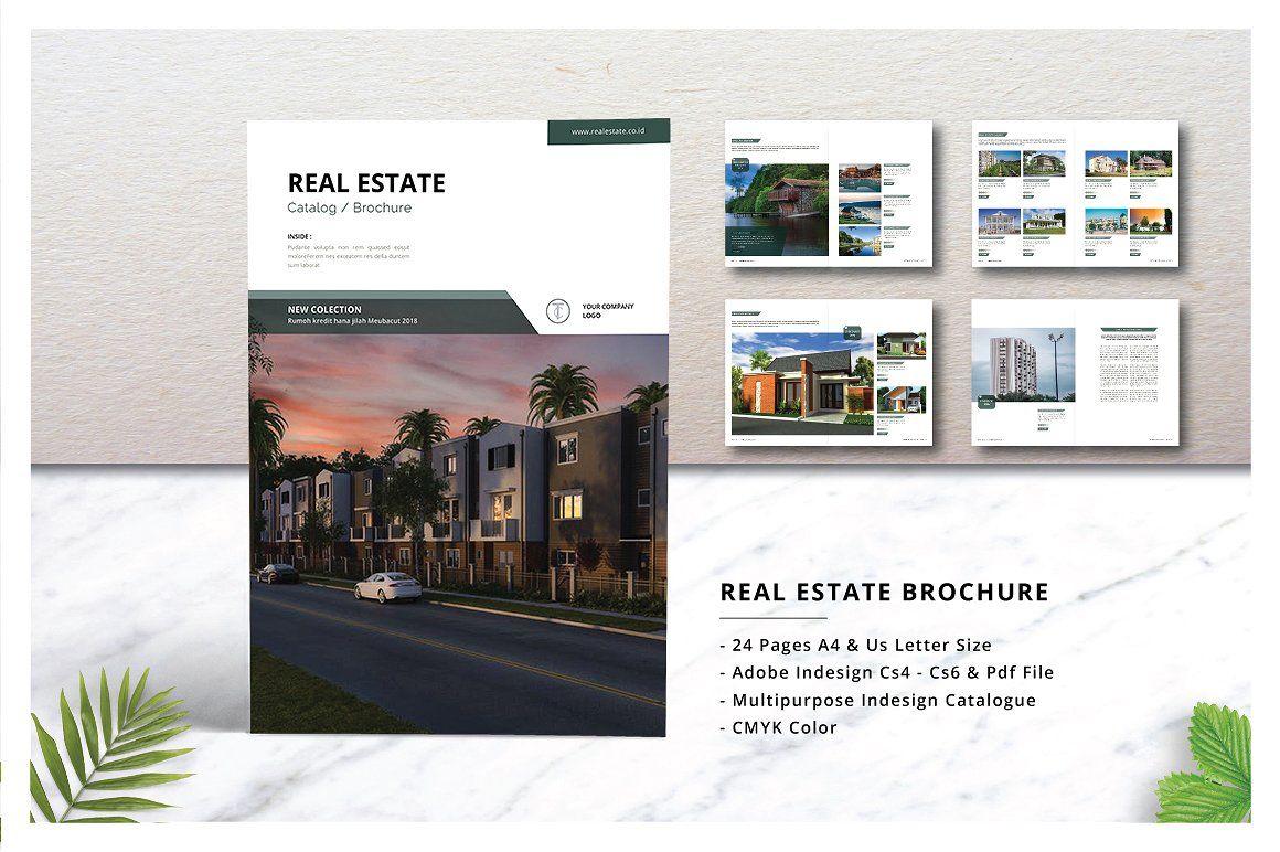 Real Estate Brochure Catalogs By J Studio On Creativemarket Real Estate Brochures Brochure Free Brochure Template 4 page real estate brochure template