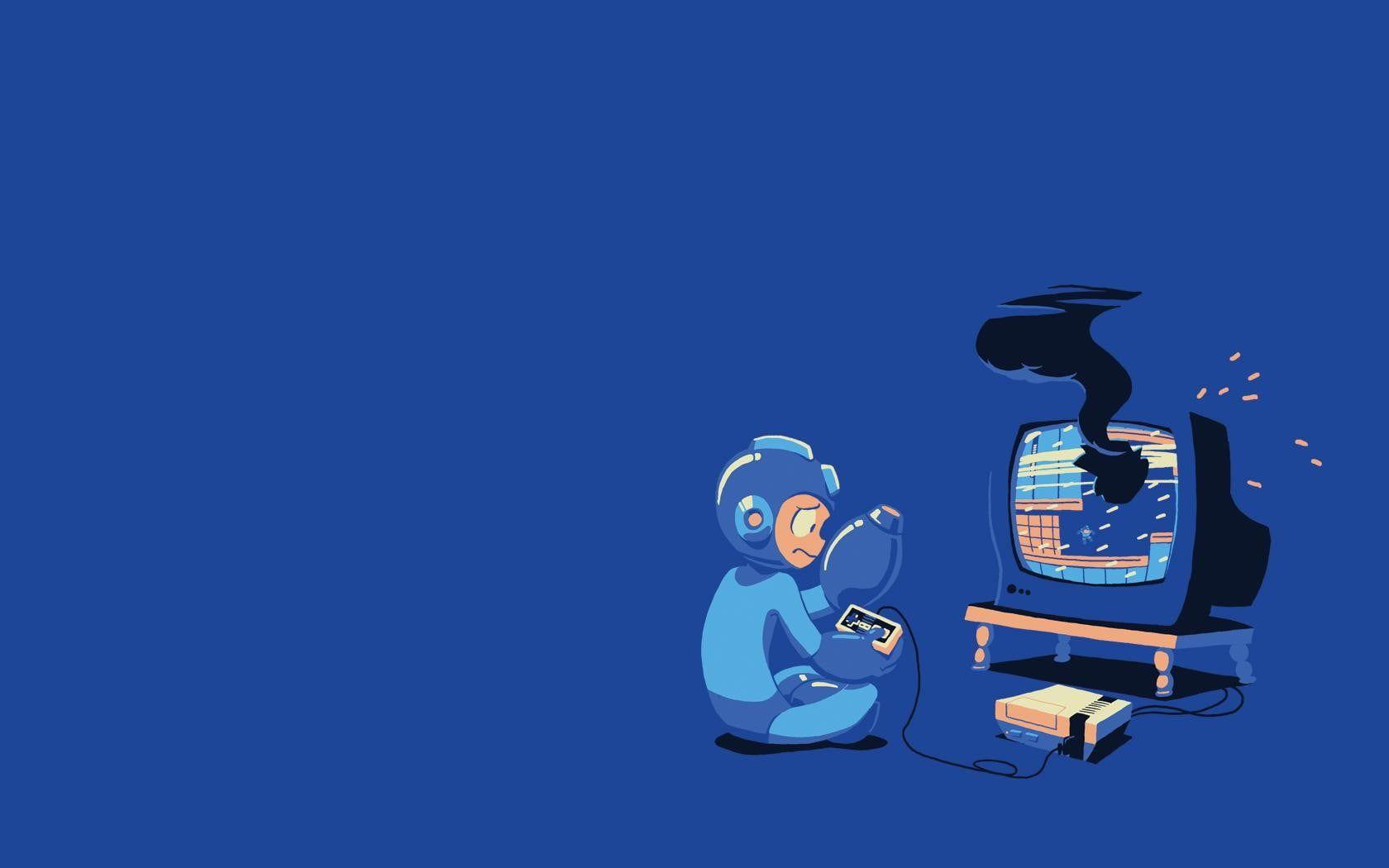 Megaman Illustration Mega Man Nintendo 720p Wallpaper Hdwallpaper Desktop Mega Man Man Wallpaper Funny Facebook Cover