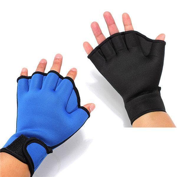 1Pair Neoprene Finger Webbed Gloves Diving Surfing Swimming Training Paddles