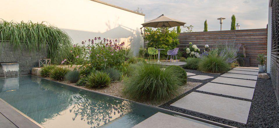Atriumgarten Gartendesigns Niedermaier Garten Freiraume Gmbh Purfing Vaterstetten Bei Munchen Atriumgarten Garten Pool Im Garten
