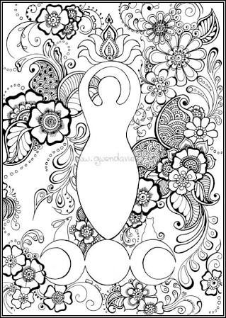 Pagan Colouring Book Google Search Witch Coloring Pages Mandala Coloring Pages Wiccan Art
