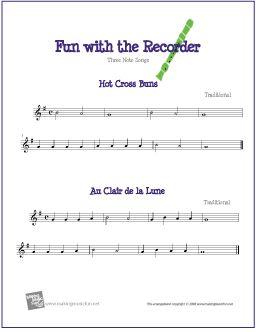Hot Cross Buns And Au Clair De La Lune Music Lesson Plans Music