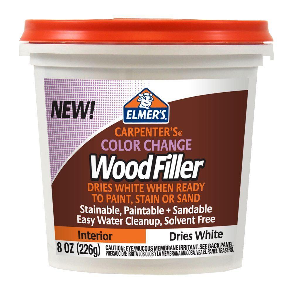 Elmer's 8 oz. Carpenter's Color Change Wood Filler Home
