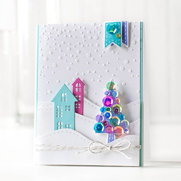 Simon Says Stamp STITCHED SLOPES AND HILLS Wafer Dies sssd111400 Cold Hands Warm Heart