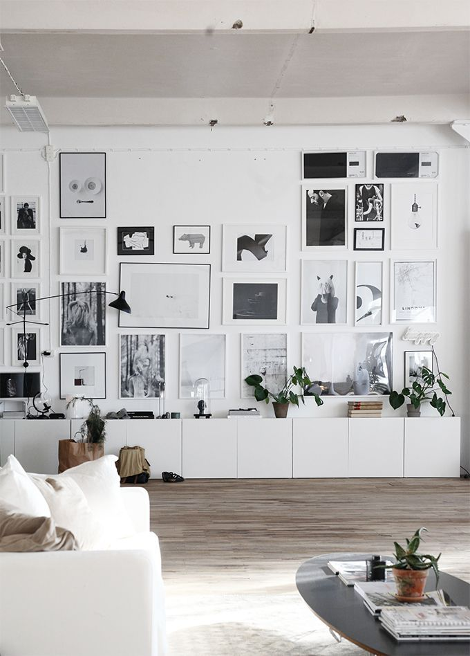 Ikea Besta   Black And White Gallery Wall.