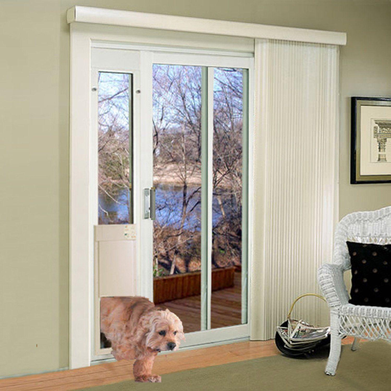 Medium Fully Automatic Lowe Sliding Glass Pet Door Regular Height