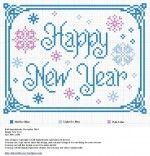 New Year Cross Stitch Pattern