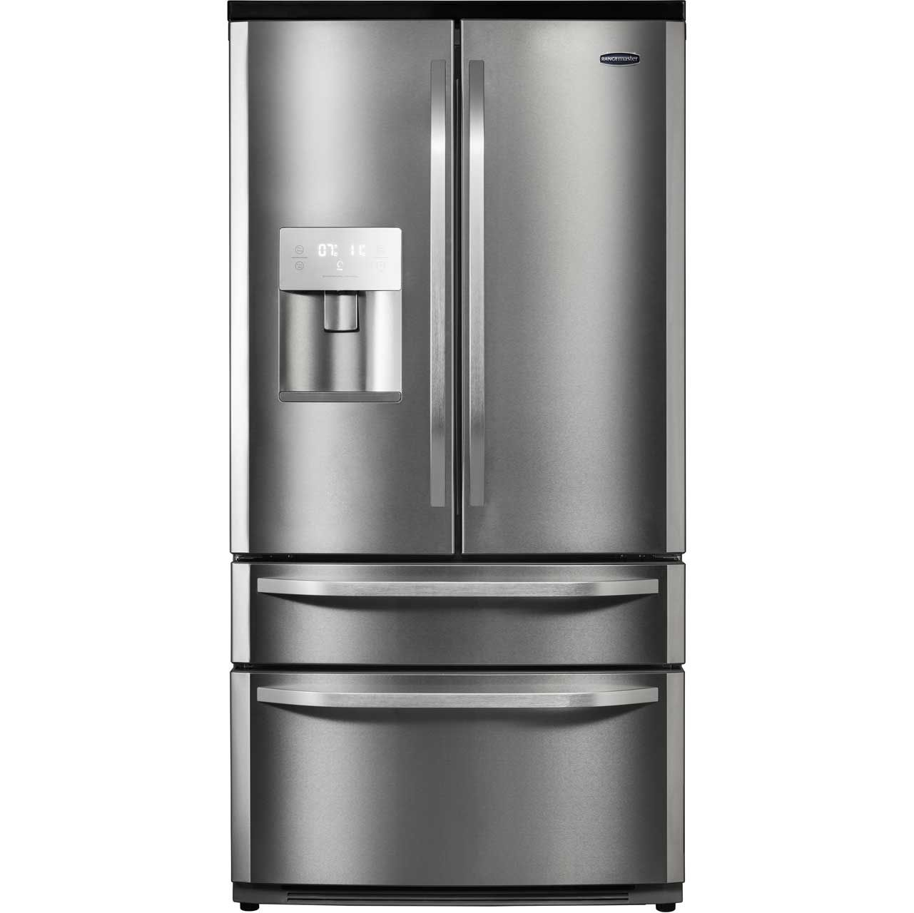 Uberlegen Rangemaster DXD RDXD15SS/C American Fridge Freezer   Stainless Steel /  Chrome