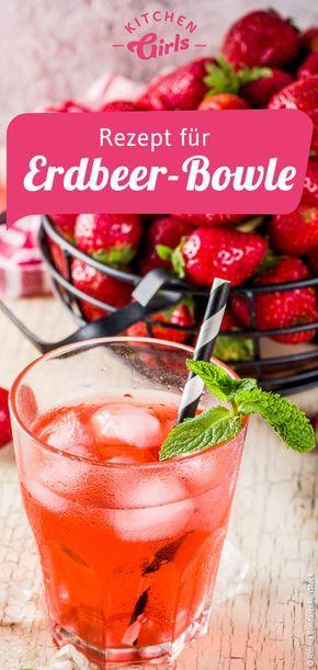 Rezept für einfache Erdbeer-Bowle #vodkastrawberries