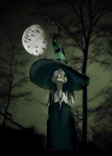 Bruja en noche de luna llena  145ed33574c