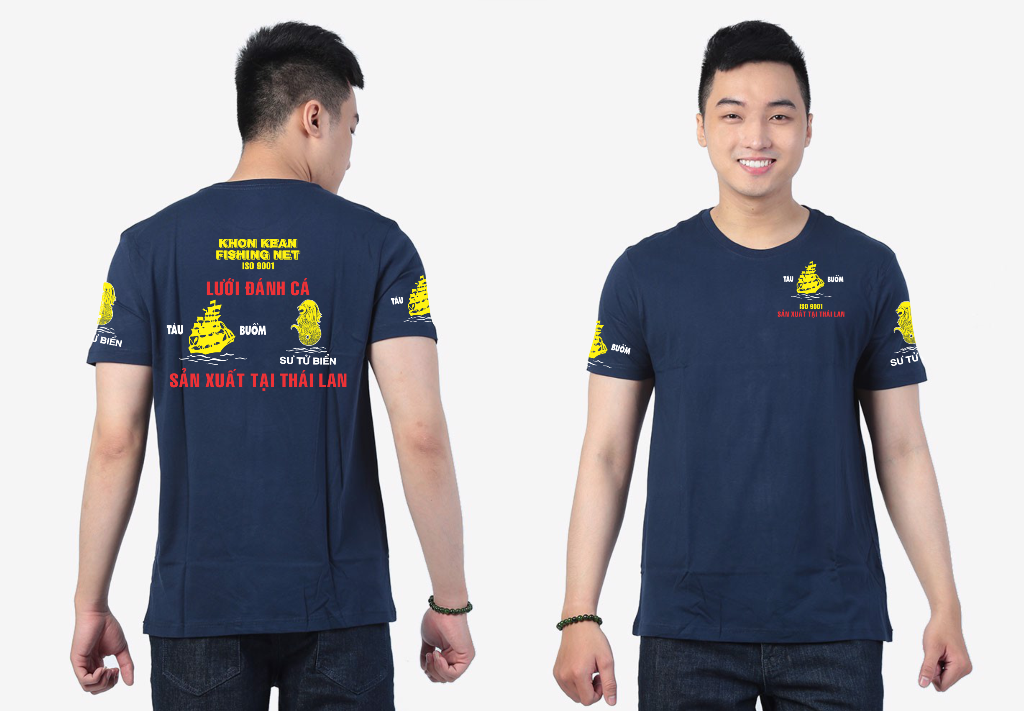 Áo thun đồng phục công ty lưới đánh cá Tàu Buồm - Hình 3
