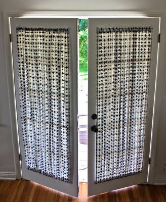 French Doors Are A Bit Of A Curtain Conundrum If You Use Hanging