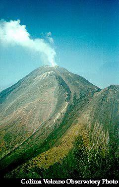 Volcán Colima, México.