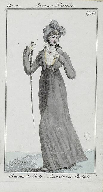 c. 1802. I love this outfit! So stylish!