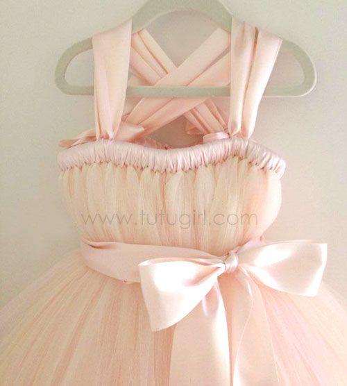 blush pink tutu dress - flower girl dress