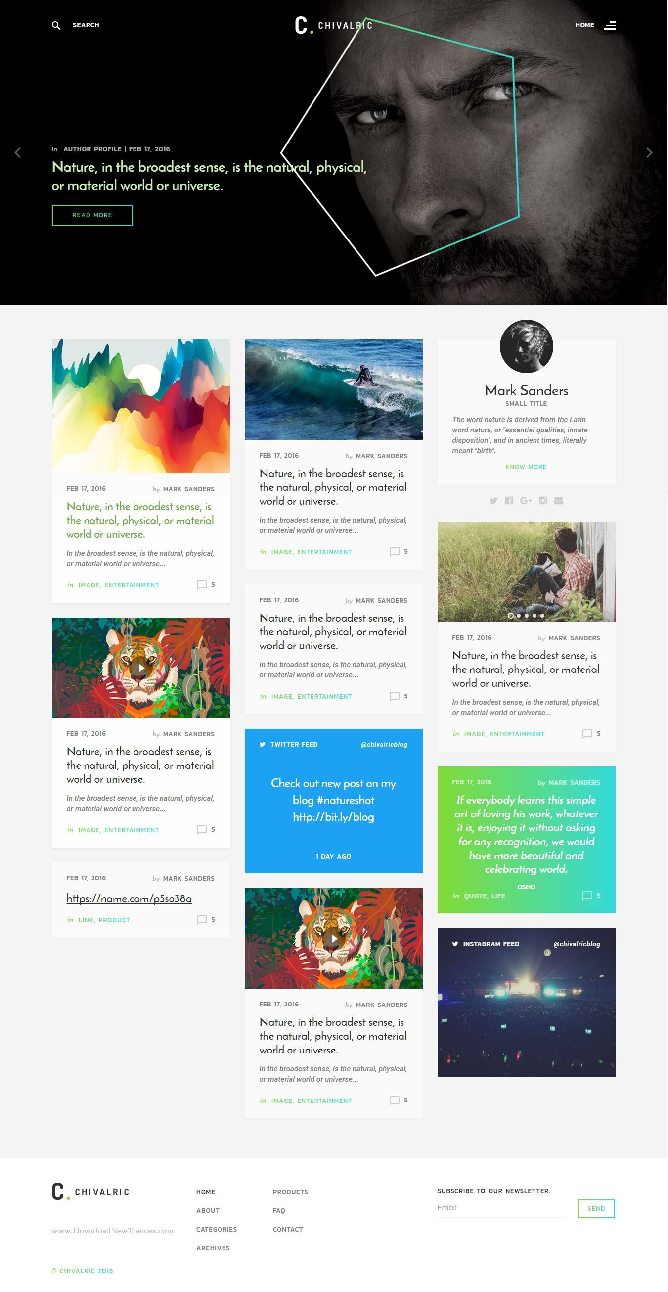Chivalric is nice, clean and modern blog html template. It comes ...