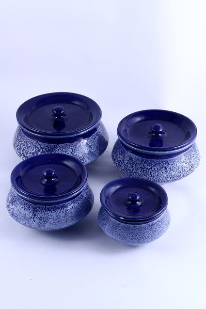 Ceramic Serving Handi Blue Marbling Effect Blue Bowls Serving Handicraft Handcrafted Handmade Tableware Dining Tabletop Home Decor Wowtrendy 이미지 포함