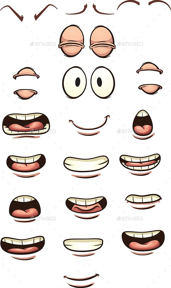 Cartoon Mouths by memoangeles Cartoon mouths and eyes