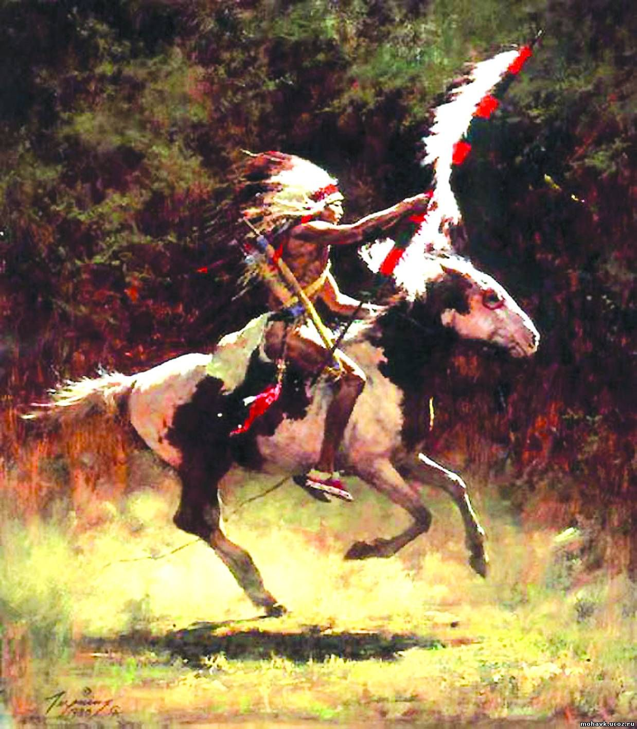 Howard Terpning 1980 Sioux flagc