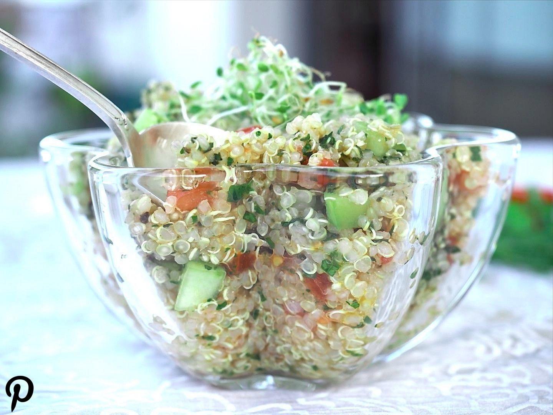 de quinoa facile et rapide, sa de quinoa facile et rapide, sans gluten Taboulé de quinoa fac…