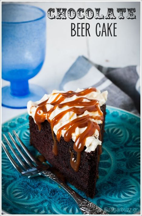 Chocolate beer cake with caramel frosting (with translator)
