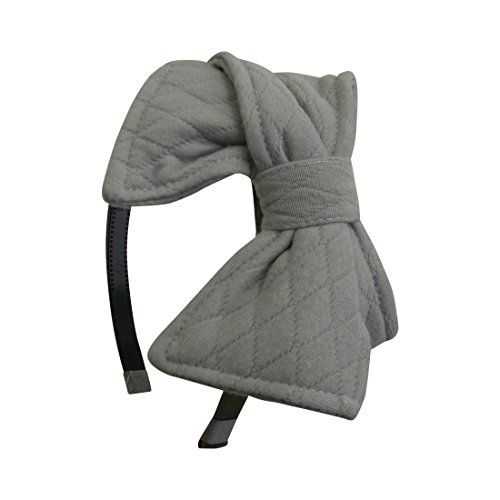Hair Accessories | Grey Headband with Quilted Bow Girls Hair Band DaCee Designs >>> You can get additional details at the image link.-It is an affiliate link to Amazon. #HairAccessories
