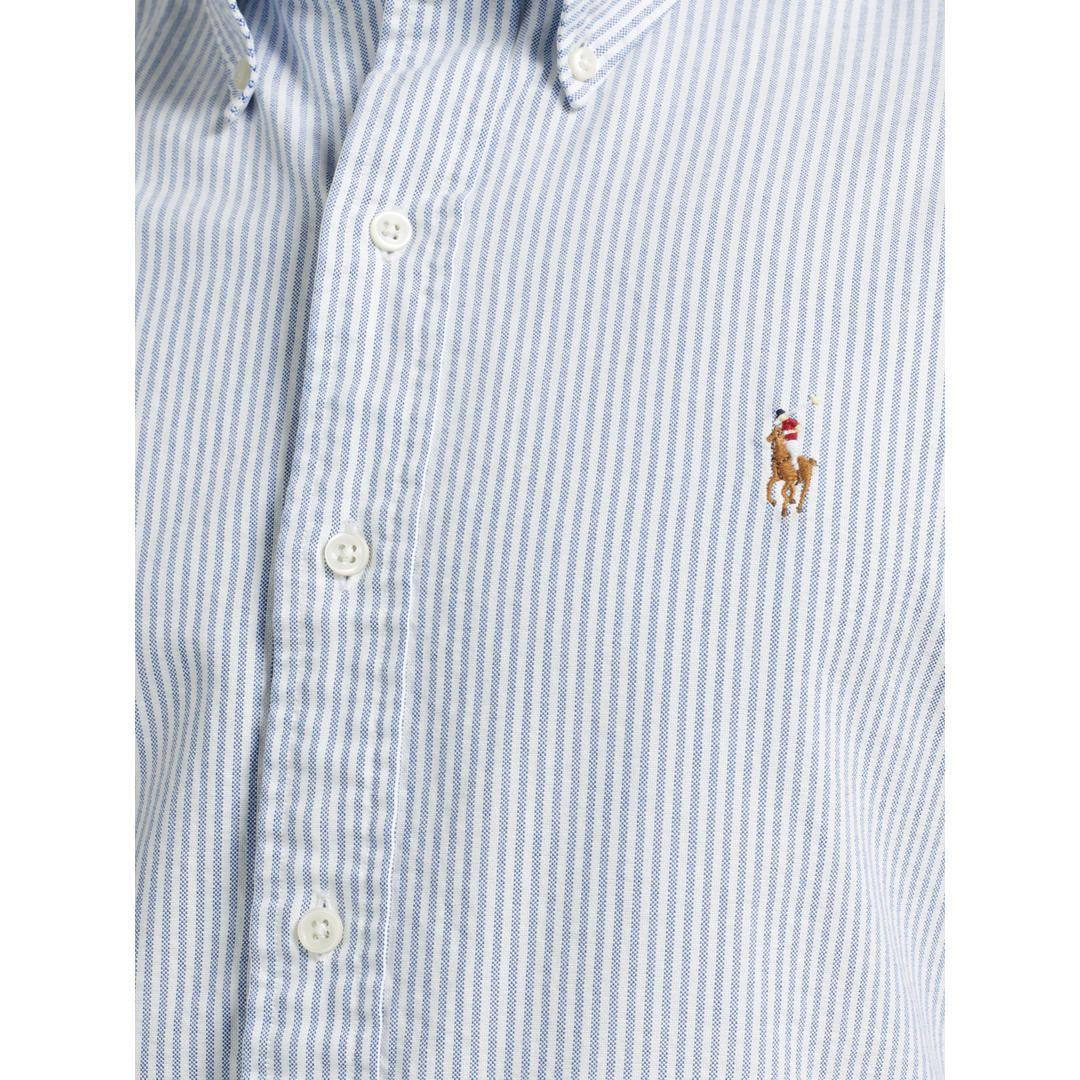 a288067756e3 BuyPolo Ralph Lauren Slim Fit Striped Oxford Shirt, Blue/White, S Online at  johnlewis.com