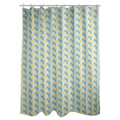 East Urban Home Classic Skyscrapers Single Shower Curtain Colour
